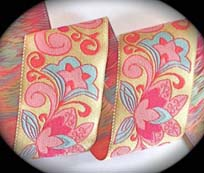 "CLOISONNE3B - 1 7/8"" (10 YDS) PALE YELLOW/PINK/LT"