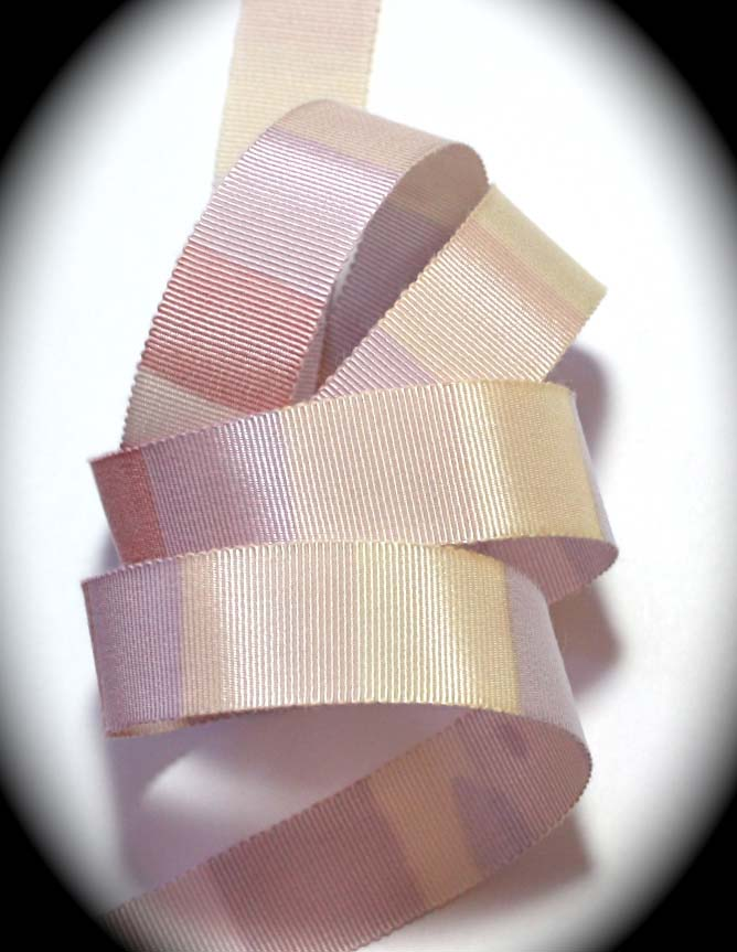 "GROSGRAIN - 7/8"" (5 YDS) MULTI COLORED RAYON/COT"