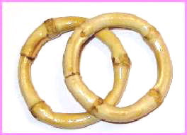 "BAM62-1 1/4"" Bamboo Rings (Inside Diameter) (pair)"