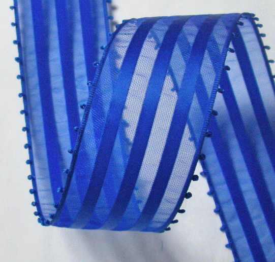 "PICOT14 1 1/2"" Blue Picot Edge (5 yards) Swiss Made!"