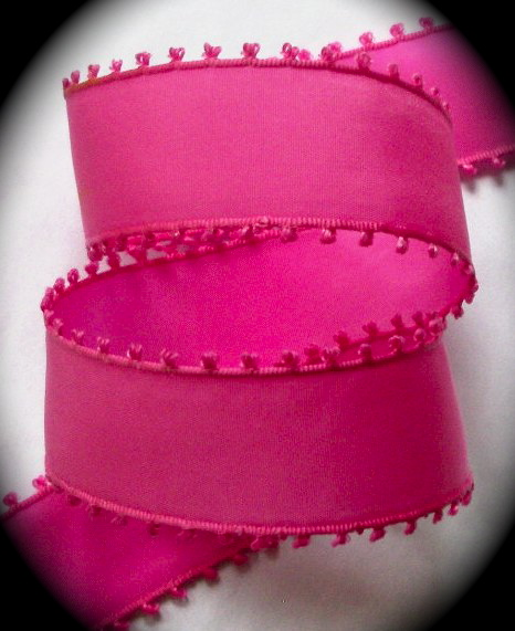 "PICOT20 1 "" Hot Pink Picot Edge (5 YDS) NYLON"