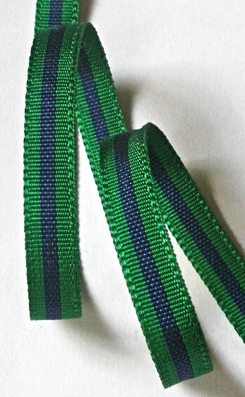 "***38ac009 3/8"" (5 YDS)  Acetate Forest Green/Navy CLOSEOUT!!"