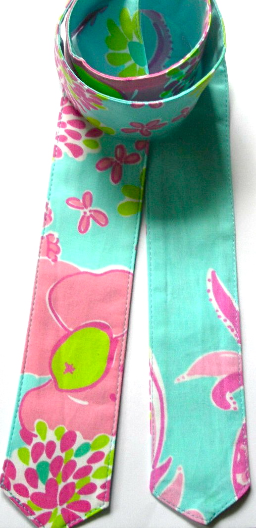 ****BELT SLIDE#8-BLUE/ AND PINKS pineapple 39, 41, 43, 45