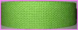 "CW2 1"" Heavy Cotton Webbing ~ Lime (3 yards)"