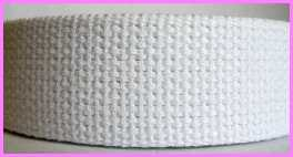 "CW6 1 1/4"" (3 YDS)  Heavy 100% Cotton Webbing ~White"