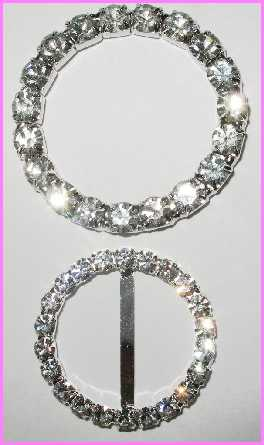 "***rb134 1 3/8"" Rhinestone O-Ring (each) TOP ONLY! (RING)"