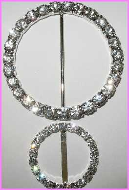 "RB157 2""(id) x 2 1/2"" (od) Round Rhinestone Buckle - Top Only"