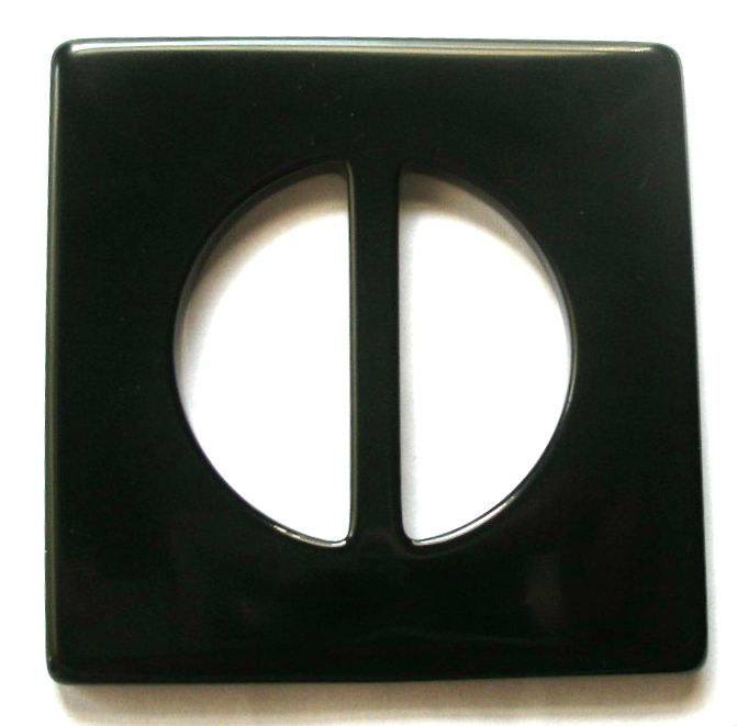 "*BUCKLE58A -  (10)SQUARE - 1 3/4"" (ID) X 3"" X 3"" BLACK"