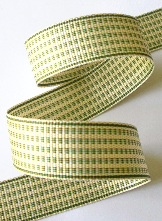 "1AC2974  1"" CREME/SAGE ACETATE (3 YARDS)"