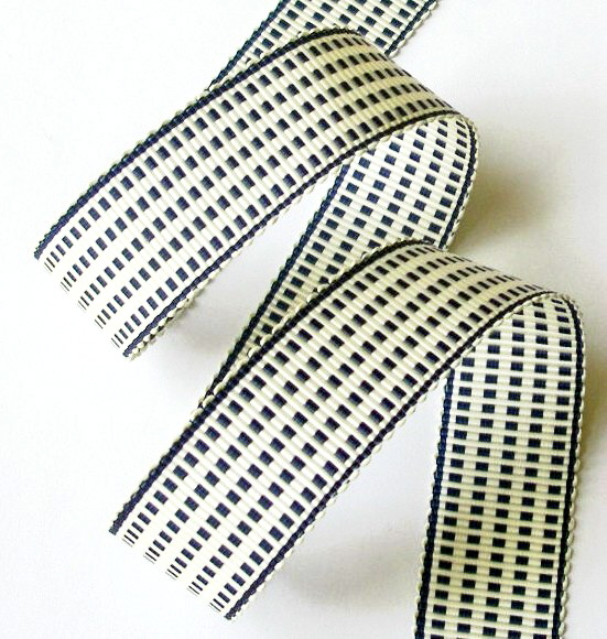 "1AC2978  1"" N. BLUE/IVORY ACETATE (3YARDS)"