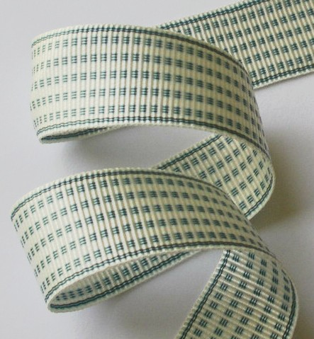 "1AC2983  1"" SLATE BLUE/IVORY ACETATE (3 YARDS)"