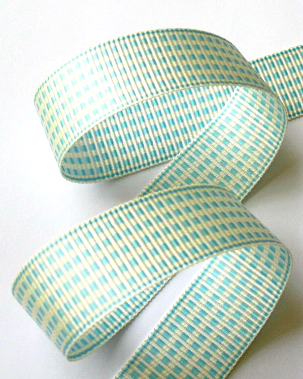 "1AC2992  1"" AQUA/IVORY ACETATE (3 YARDS)"