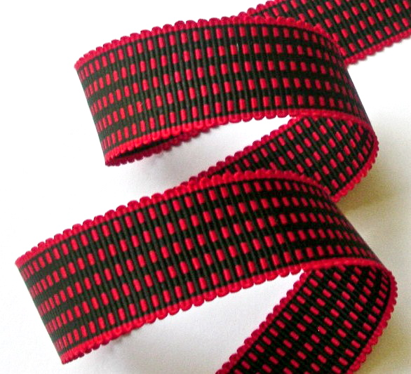 "1AC2995  1"" RED/BLACK ACETATE (3 YARDS)"