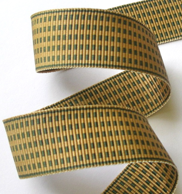 "1AC2998  1"" DEEP SAGE/KHAKI ACETATE (3 YARDS)"