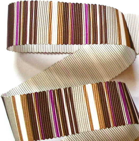 "VERTICALBROWN - 1"" (3 yds) BRWN/FUSCHIA PETERSHAM GROSGRAIN"