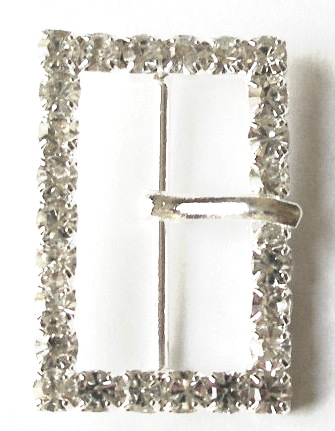 "RB651 1""(id) x 1 1/4"" (od) Rectangle RhinestonW/OR WITHOUT PRONG"