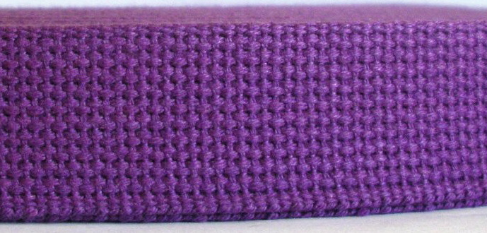 "CW30 1 1/4""  (3 YDS) PURPLE COTTON HEAVY WEBBING"