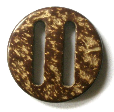 "SH1001  - 1"" (ID) X 1 1/2""GENUINE COCONUT SHELL BUCKLE"