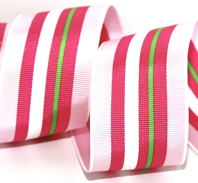 "112AC8600 1 1/2"" PINK/PINK/LIME/WHITE 3 YDS"
