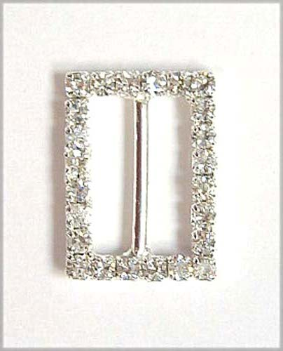 "RB171 - 5/8""(ID) X 7/8"" H RECTANGLE RHINESTONE BUCKLE"