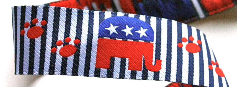 "DOG /PAWS1 - 1"" (3 YDS) I'M A PROUD REPUBLICAN (ELEPHANT)"