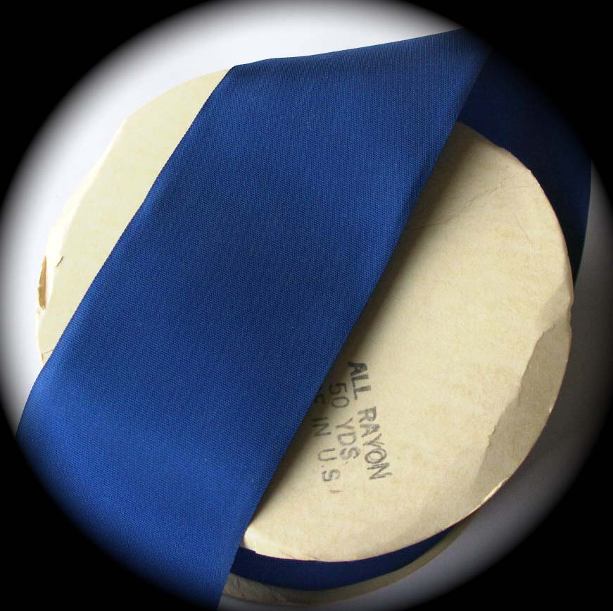 "TAFFETA4764A 2"" ROYAL BLUE (3 YDS) ALL RAYON"