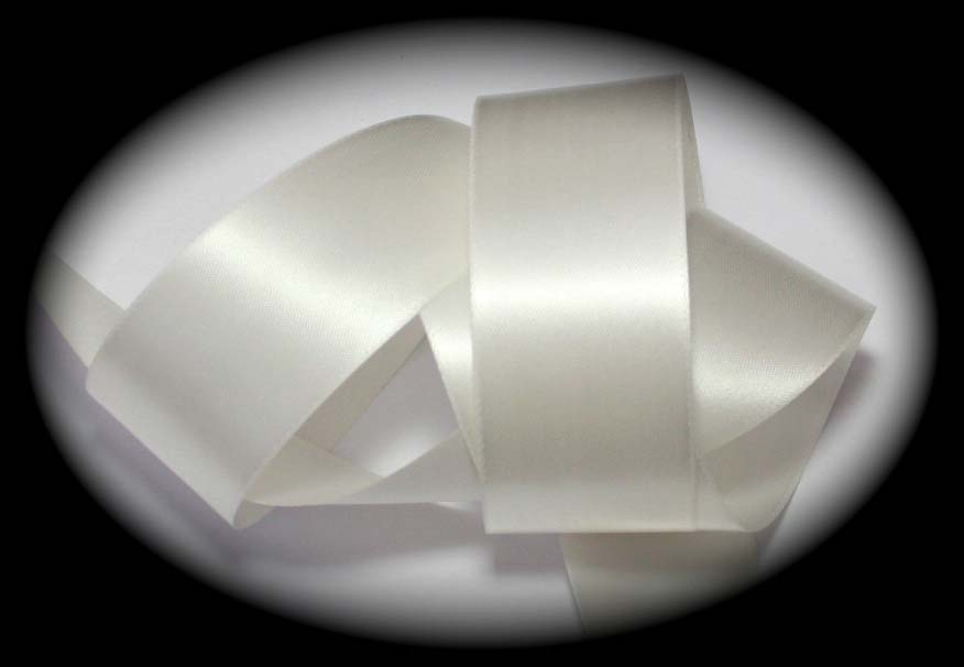 "SATIN - 1 3/8"" IVORY DOUBLE FACED (3 YDS)"