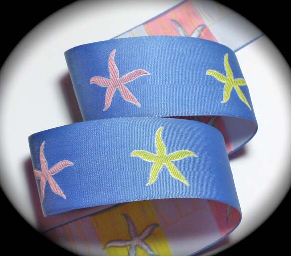 "STARFISH2 - 1 1/2"" (3 YDS) BLUE/PINK/YELLOW LIMITED"