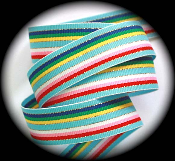"GGS0111- 7/8"" LIGHT BLUE/GOLD/YEL/PNK/RED (5 YDS)"