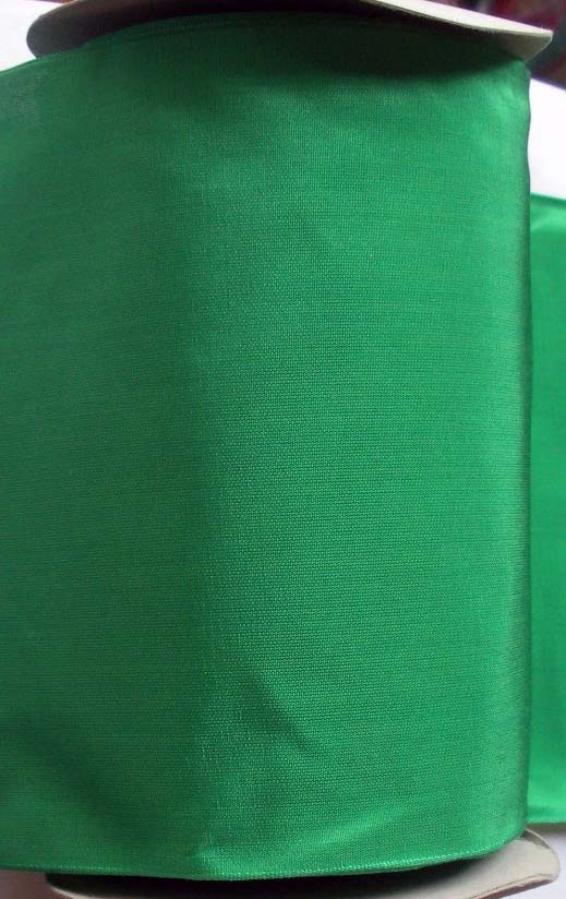 "TAFFETA - 6 1/4"" WIDE GREEN-RAYON BLEND  (PER YD) SWITZERLAND"