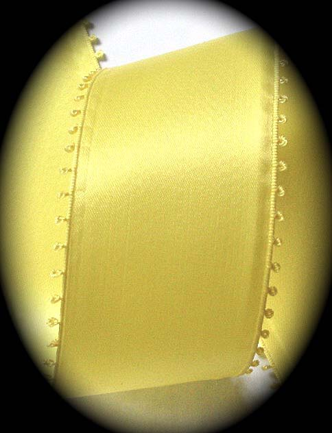 "PICOT213 2"" (tip to tip)(PER YD) Yellow DFS Swiss M"
