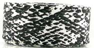 "78ac087 7/8"" Ivory & Soft black faux snake 5 yds"