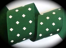 "200ac012 2"" (3 YDS) Hunter Green/Creme Diamond Shape"