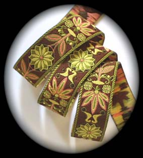 "MP108ca 1"" (25 yds)Mixed Pinwheel Zinnia-Brown, Olive and Rose"