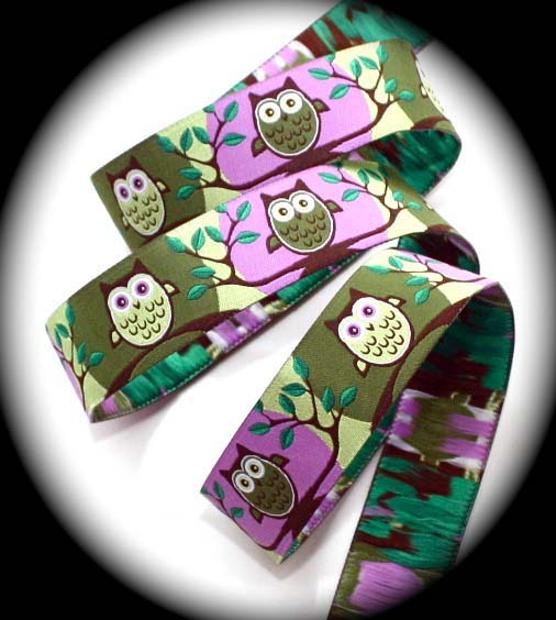 "OWL - 1"" (3 YDS)ORCHID/OLIVE/LIME/BROWN�"