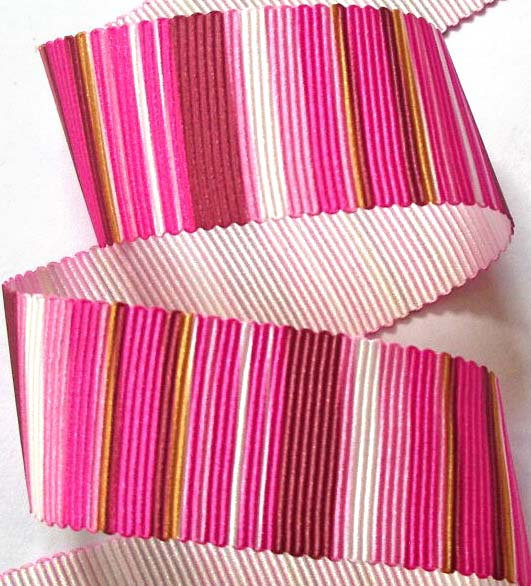 "VERTICALPINK - 1"" (3 yds) PINKS  PETERSHAM GROSGRAIN"