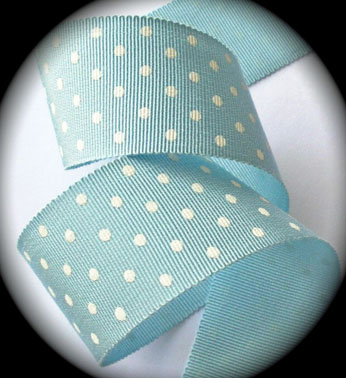 "DOTS 1 1/2""  LT. BLUE/WHITE SWISS (3 YDS) RAYON/COTT"