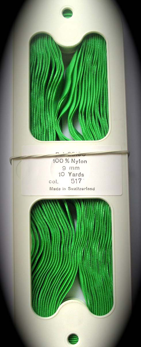 "Velvet 3/8"" Green (10 yds) NYLON"